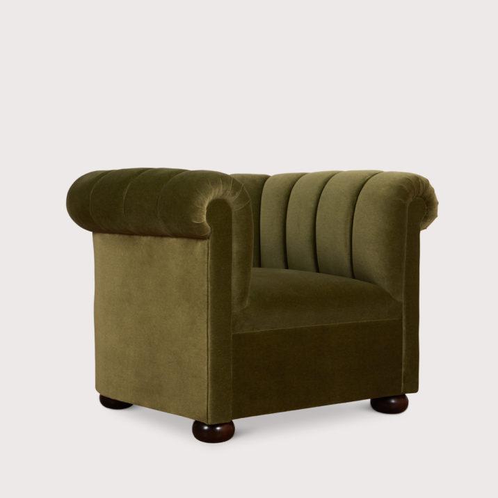 Channeled Club Chair