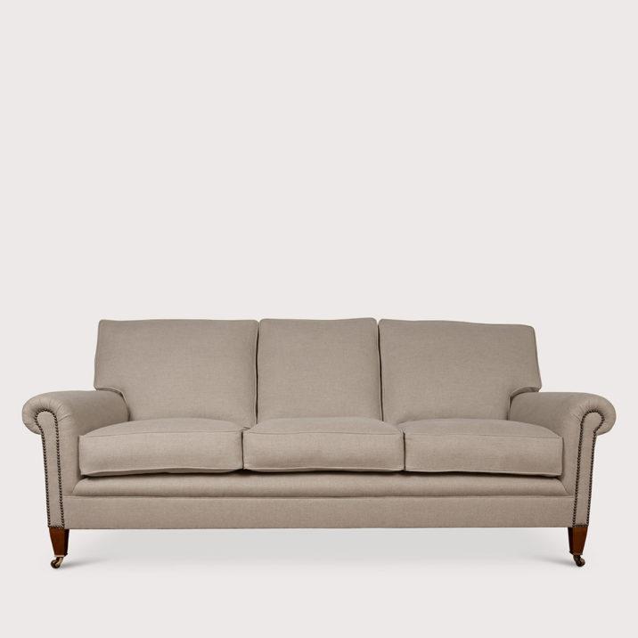 Signature Sofa Full Scroll Arm Cushion Back