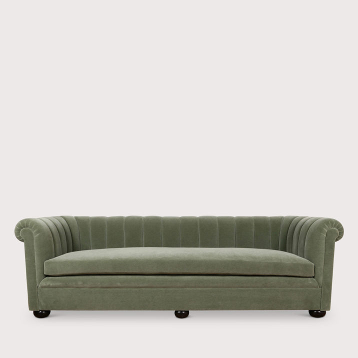 Channeled Sofa with Seat Cushion