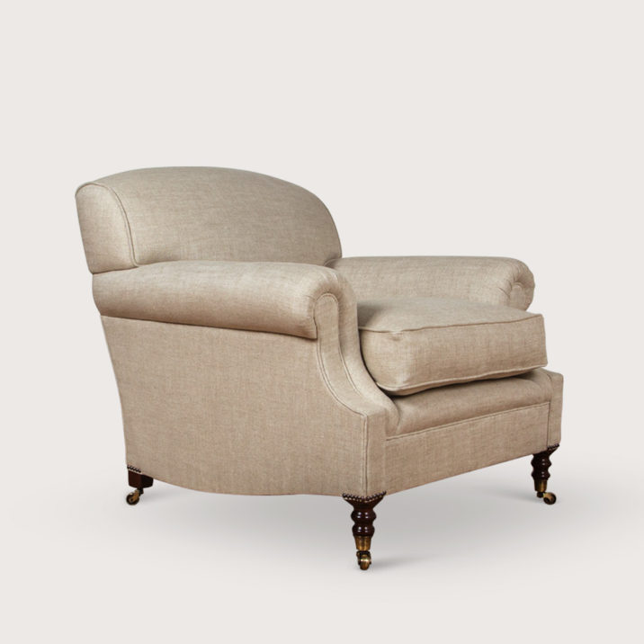 Laid Back Scroll Arm Signature Chair