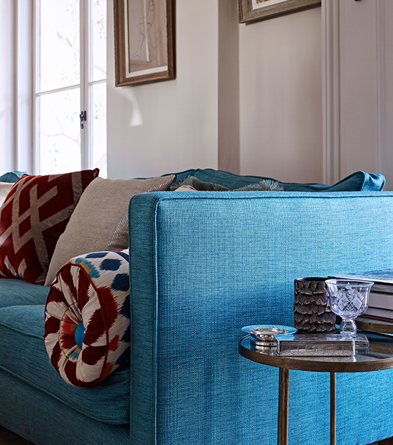 End of Blue Brompton Sofa