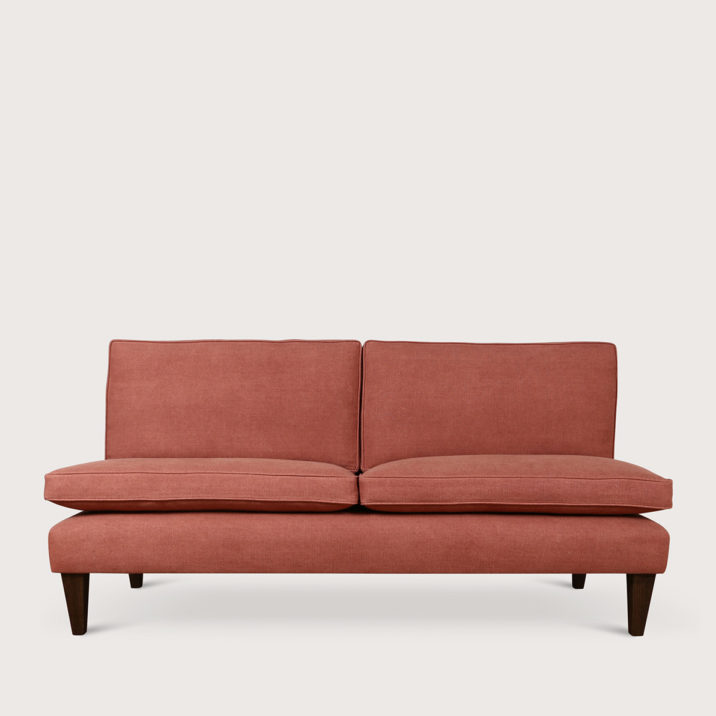 Brompton Sofa Armless with loose back cushion