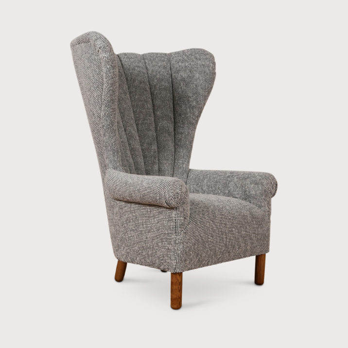 Channeled Wing Chair