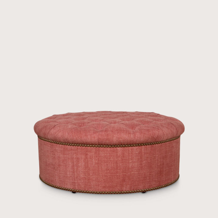 Round Buttoned Pouffe