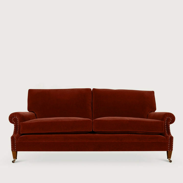 Signature Sofa Laid Back Scroll Arm Cushion Back