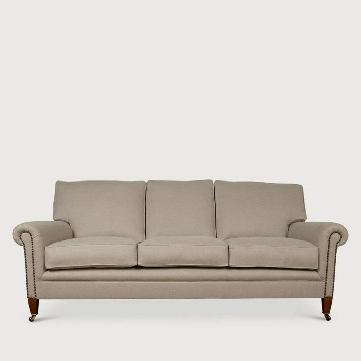 Signature Sofa Full Scroll Arm Cushion Back