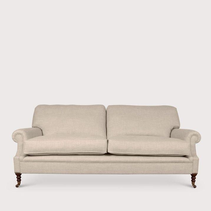 Signature Sofa Laid Back Scroll Arm Cushion Back