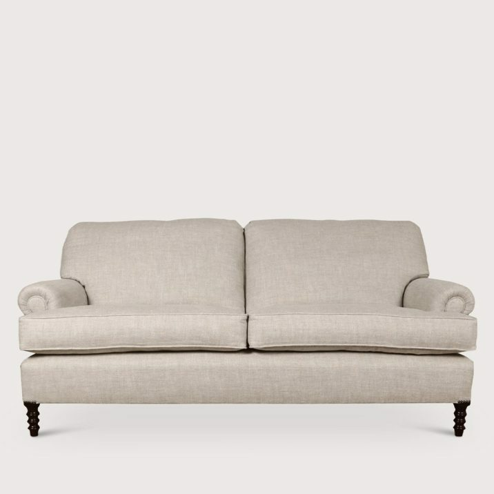 Medium Signature Sofa Short Scroll Arm Cushion Back