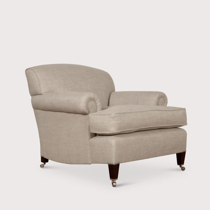 Large Short Scroll Arm Signature Chair