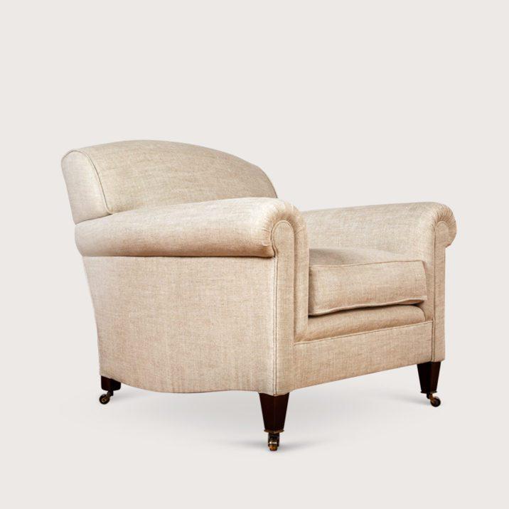 Medium Full Scroll Arm Signature Chair