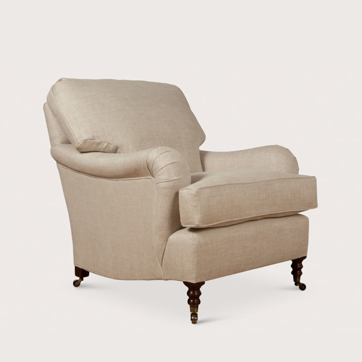 Small Standard Arm Signature Chair with Cushion Back
