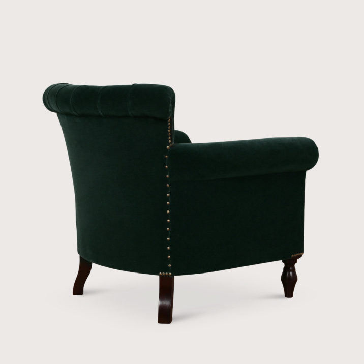 Scaled-Up Buttoned Library Chair